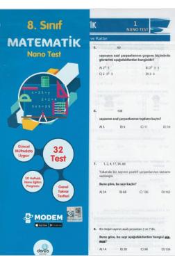 8.Sınıf Matematik Nano Poşet Test