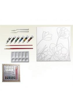 Ceo Art 40X40 Desenli Tuval Seti