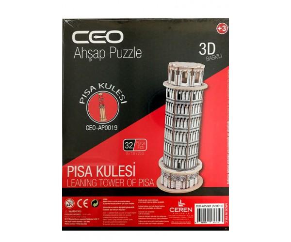 Ceo 3D Ahşap Puzzle Pisa Kulesi