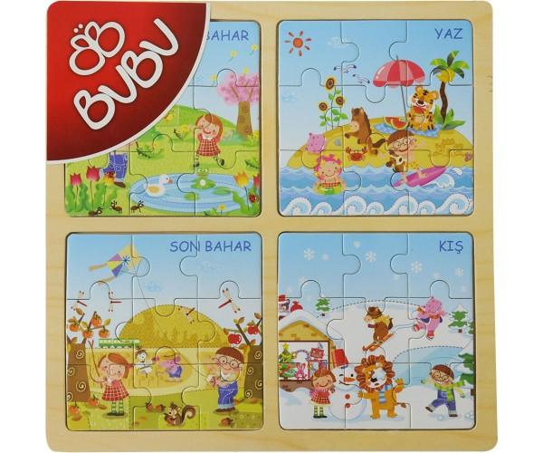 Bu-Bu Ahşa P Puzzle 30X30 Bubu0061-2- 3-4