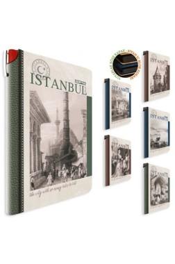 İstanbul Retro Sert Kapak 96 Yaprak Çizgili Defter