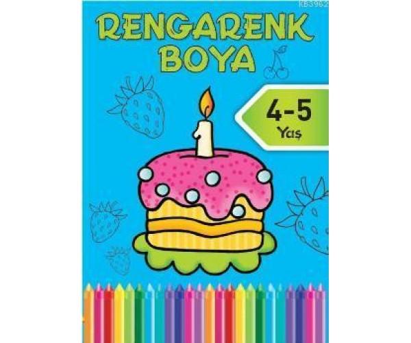 Rengarenk Boya 3 4 5 Yas Mavi Kitap 9786050908800 Dogan